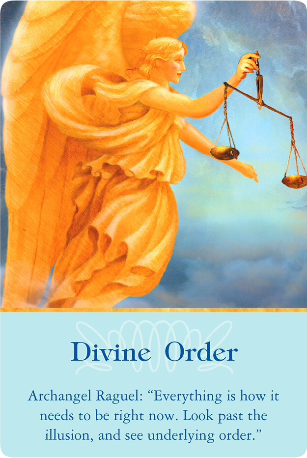 Divine Order from Archangel Raguel of Archangels Oracle Cards
