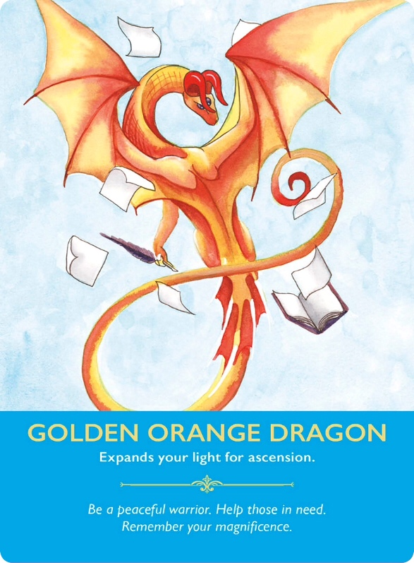 Golden Orange Dragon from Dragon Oracle Cards/山吹色の龍