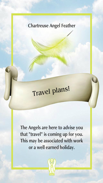 Travel plans! (from the Angel Father Oracle)