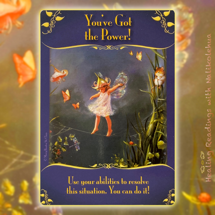 You've Got the Power from the Magical Messages from the Fairies Oracle Cards