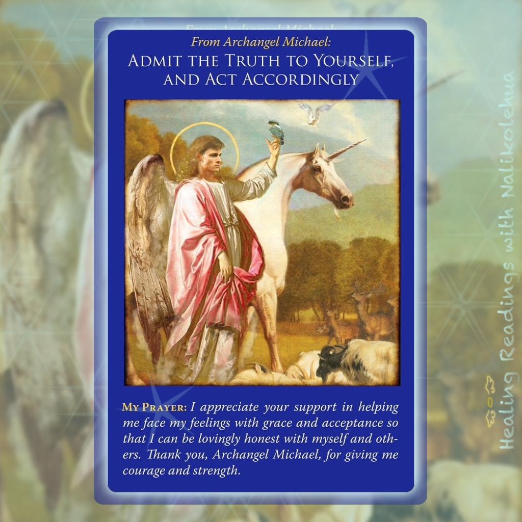 《事実を認め、しかるべき行動する/Admit the Truth to Yourself, and Act Accordingly》大天使ミカエルオラクルカードより