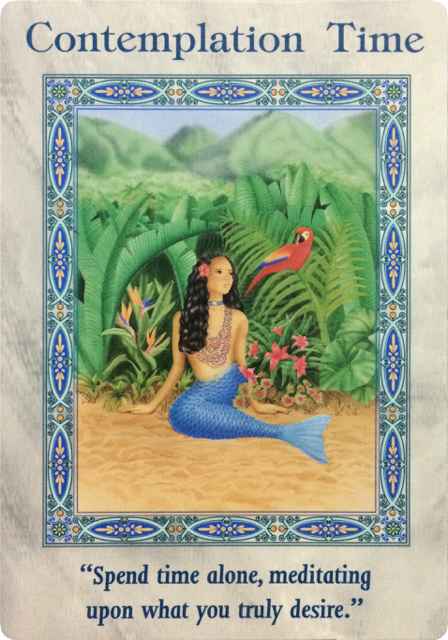 Contemplation Time from the Magical Mermaids and Dolphins oracle cards