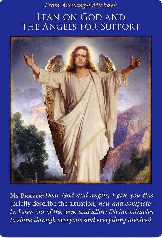 《Lean on God and the Angels for Support/神と天使に助けを求める》〜大天使ミカエルオラクルカードより