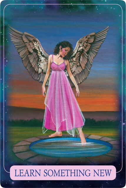 LEARN SOMETHING NEW from Indigo Angel Oracle Cards