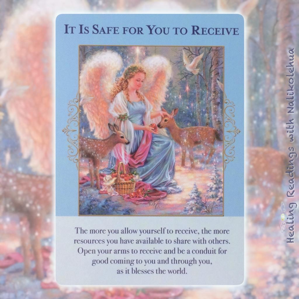 《受け取っても大丈夫/It Is Safe for You to Receive》〜エンジェルオブアバンダンスオラクルカードより